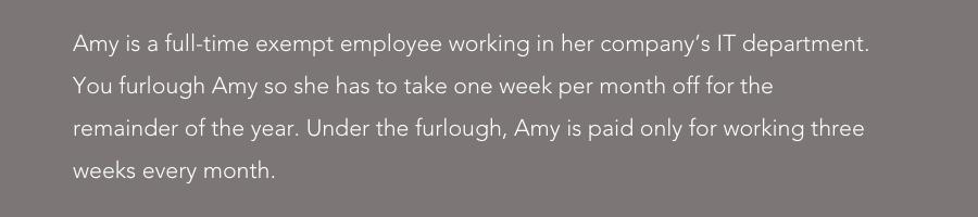 furlough example exempt employee