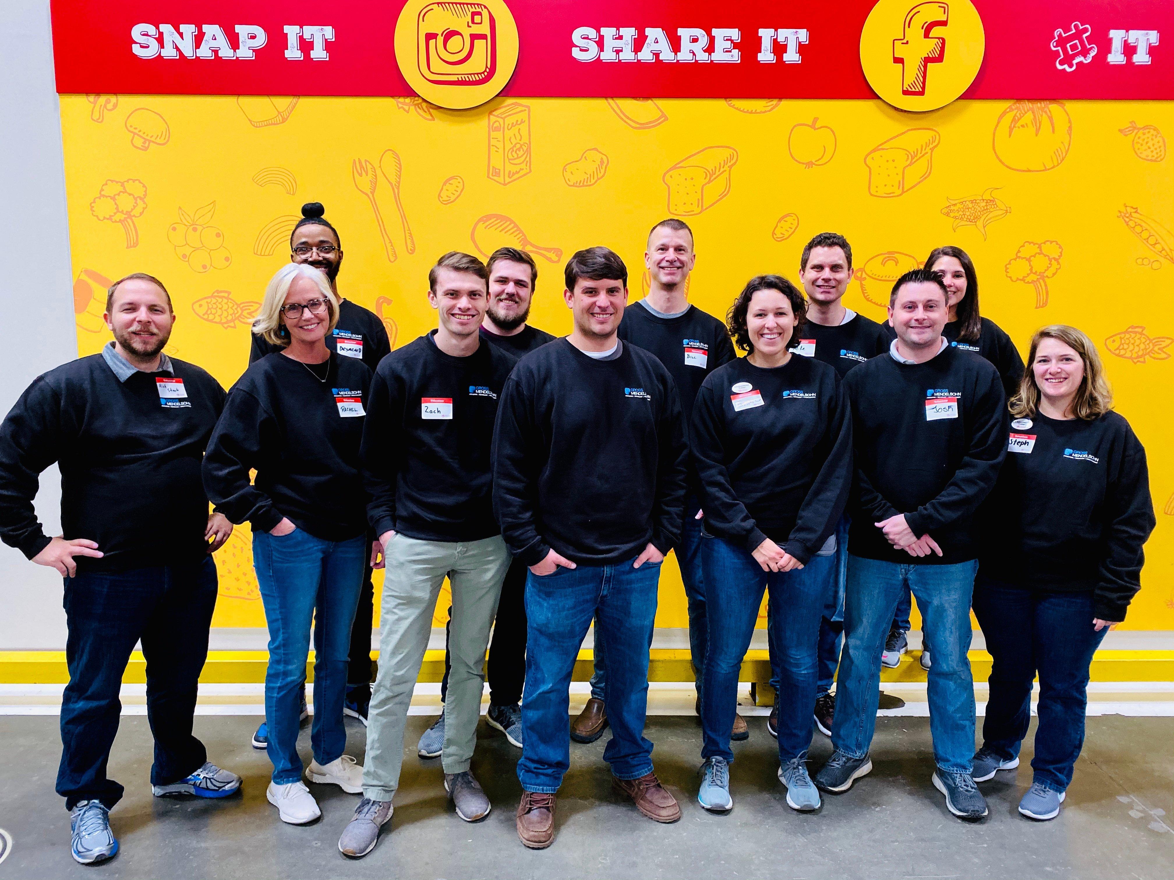 Gross Mendelsohn employees volunteer at Maryland Food Bank