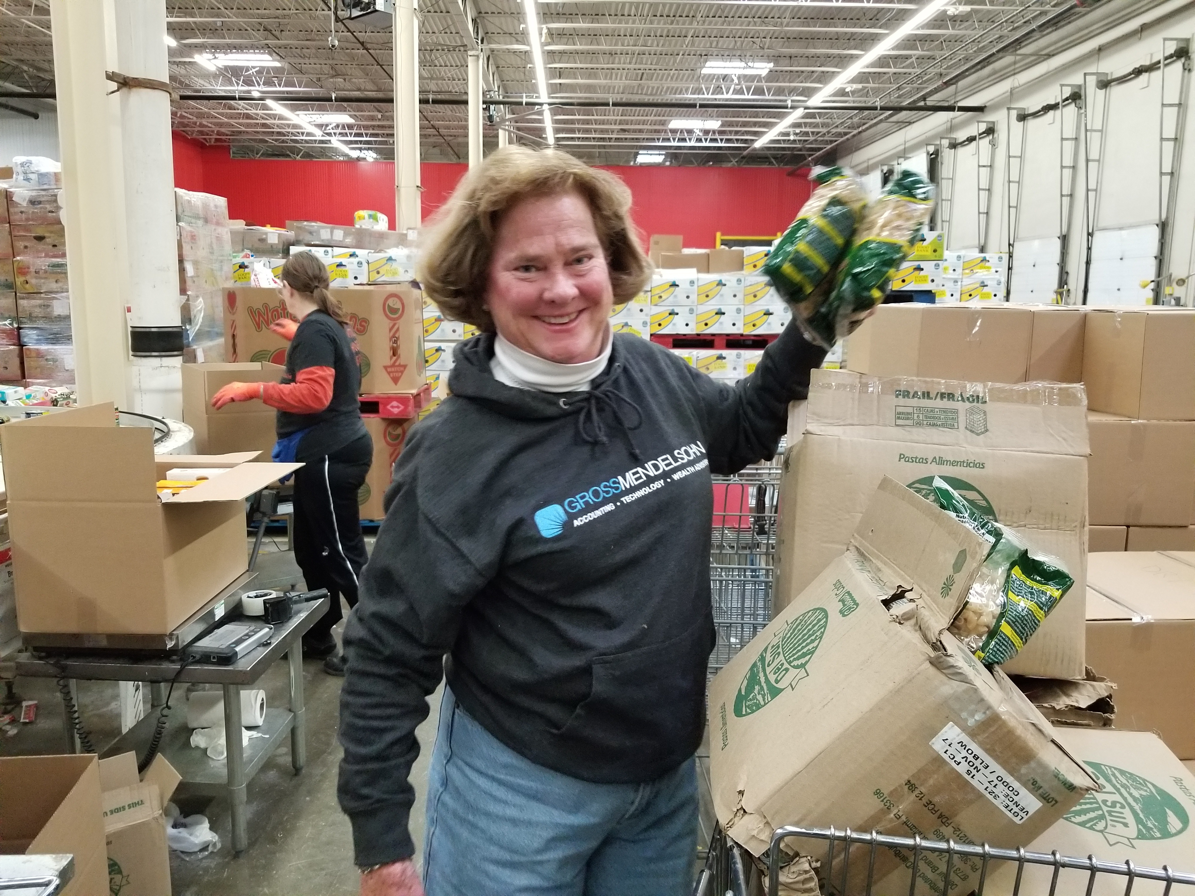 Tricia Thomas volunteers at Maryland Food Bank