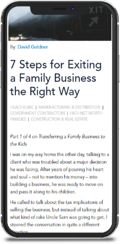 7 Steps for Exiting a Family Business the Right Way
