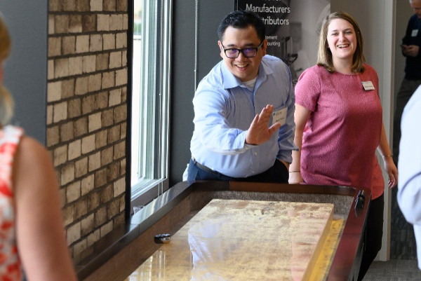 Open House Staff Playing Shuffleboard 2019