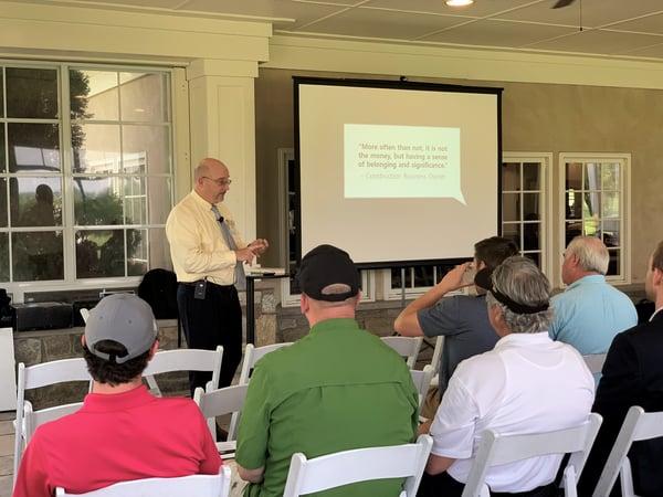 Steve Ball presents Maryland construction seminar