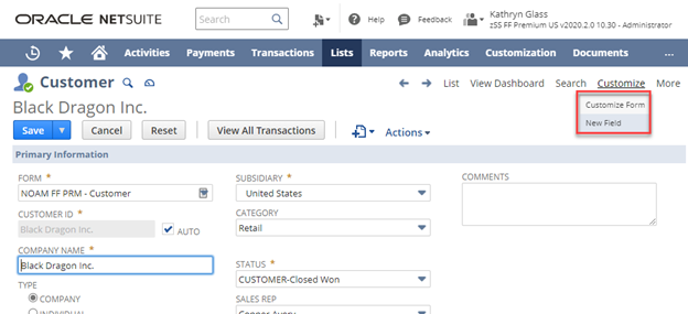 How to Customize Forms in NetSuite