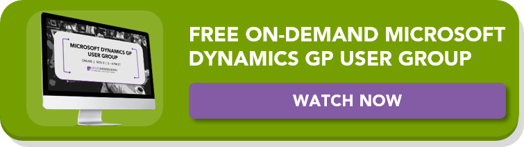 watch the on-demand microsoft dynamics gp user group here